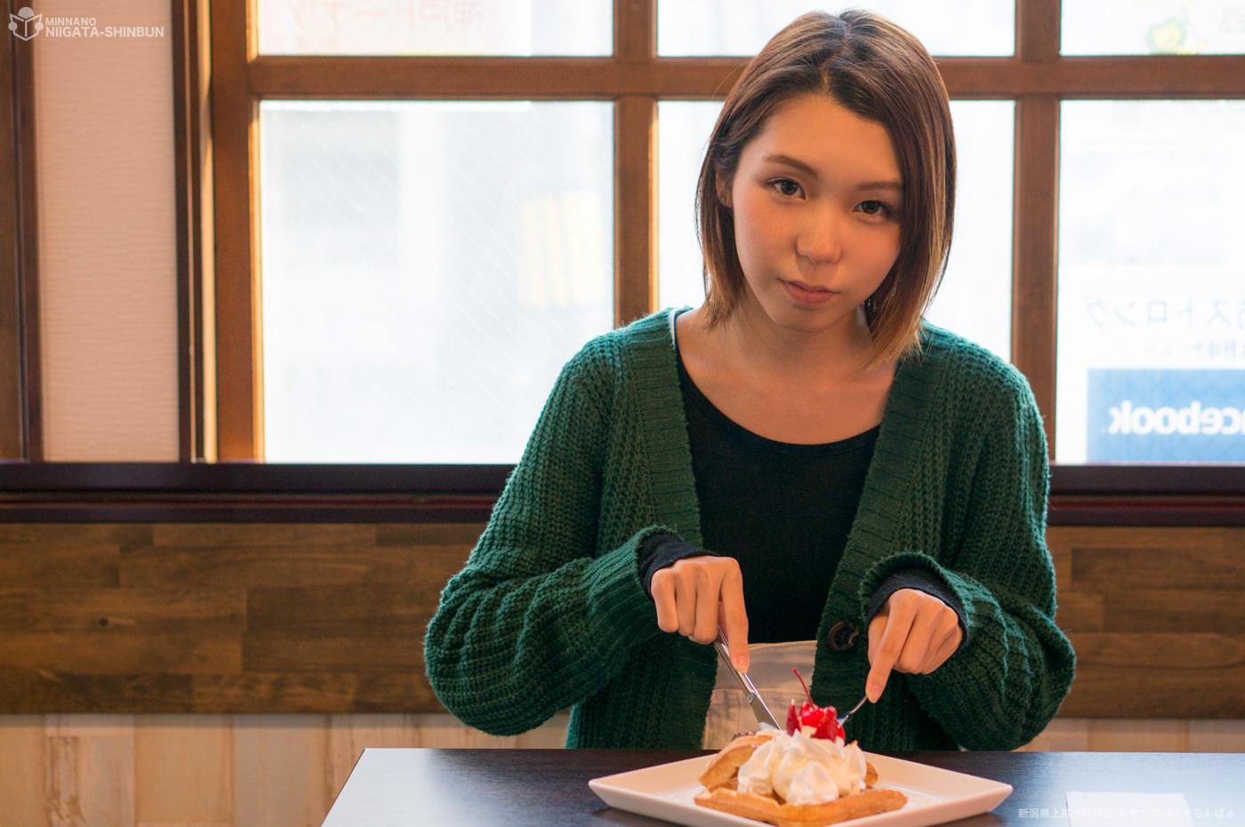 ワッフル(バニラアイス フルーツのせ)ぐらんばぁ,内山ひめかの写真